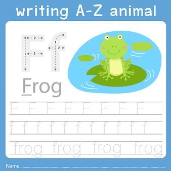 Ilustrator pisania az zwierzęcia f