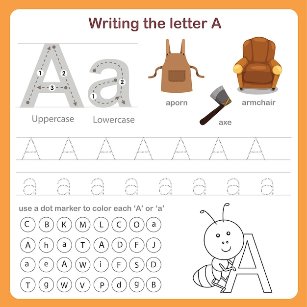 Ilustrator pisania listu arkusz roboczy