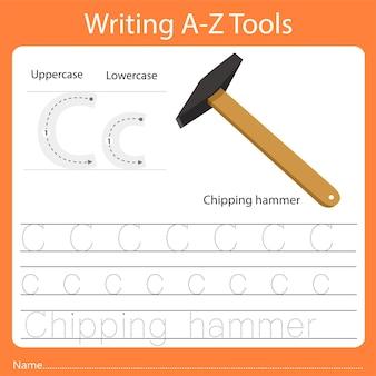 Ilustrator pisania narzędzi az c