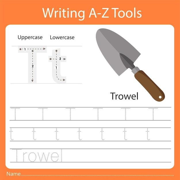 Ilustrator pisania narzędzi az t