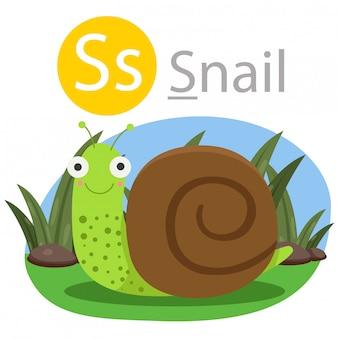 Ilustrator s dla zwierząt ślimaków