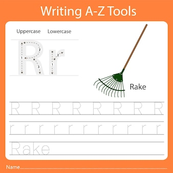 Ilustratorka narzędzi do pisania az r