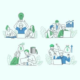 Ilustratorzy ludzi biznesu