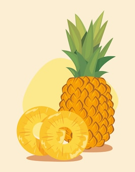 Ilustratorzy żywienia świeżego ananasa