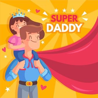 Ilustrowana koncepcja dnia ojców