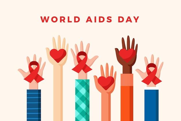 Ilustrowana koncepcja dnia pomocy na świecie