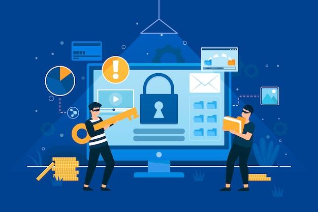 Ilustrowana koncepcja kradzieży danych