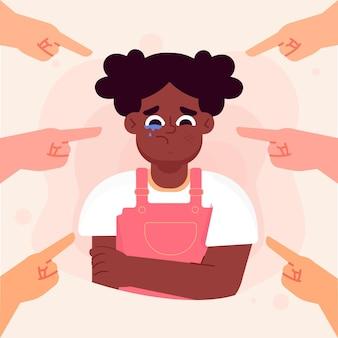 Ilustrowana koncepcja rasizmu