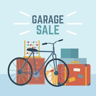 Ilustrowana koncepcja sprzedaży garażu