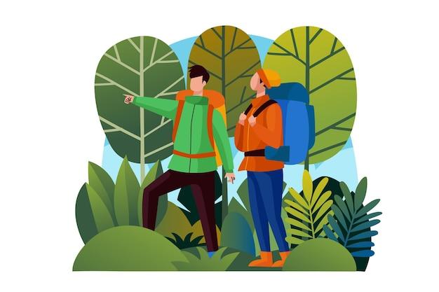 Ilustrowana koncepcja turystyki ekologicznej