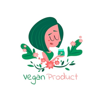 Ilustrowana koncepcja wegańska i wolna od okrucieństwa