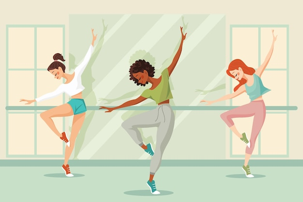 Ilustrowana lekcja tańca