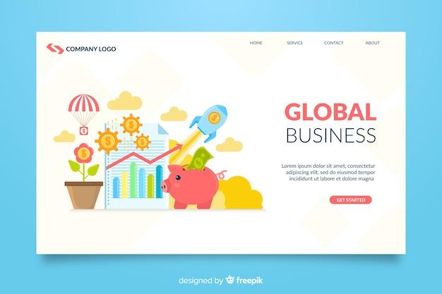 Ilustrowana strona główna firmy