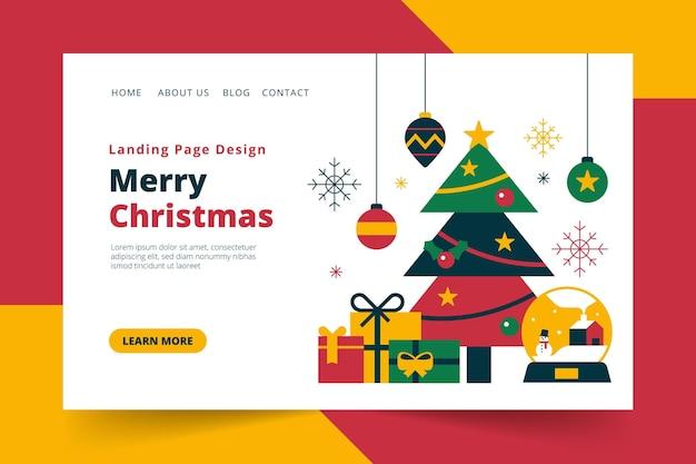 Ilustrowana świąteczna strona docelowa