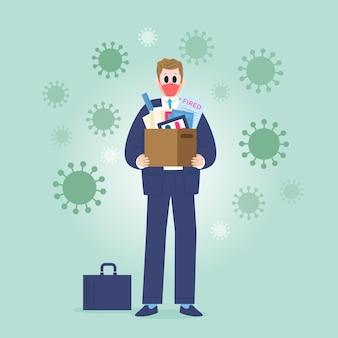 Ilustrowana utrata pracy z powodu koronawirusa