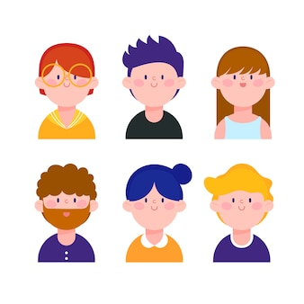 Ilustrowane awatary osób