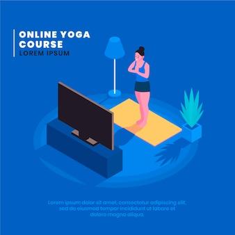 Ilustrowane lekcje jogi online