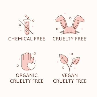 Ilustrowane odznaki cruelty free