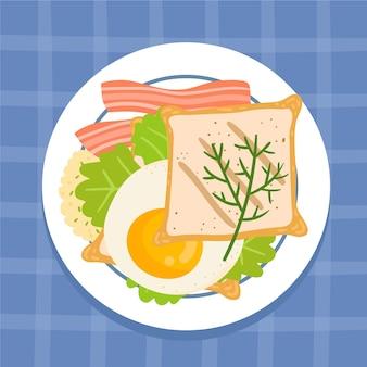 Ilustrowane pyszne jedzenie komfortowe
