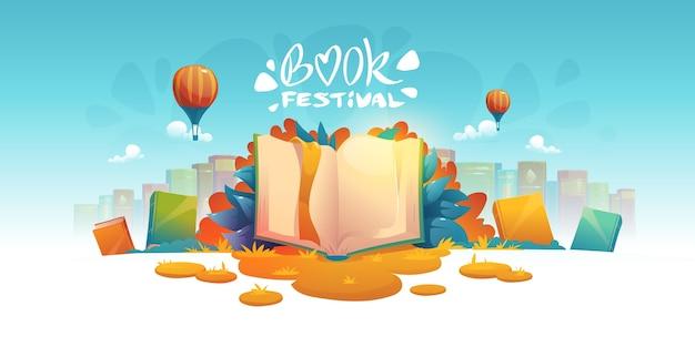 Ilustrowane tło targów książki
