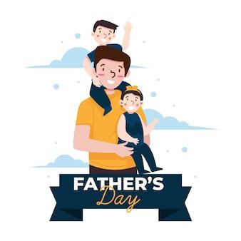 Ilustrowane wydarzenie z okazji dnia ojca