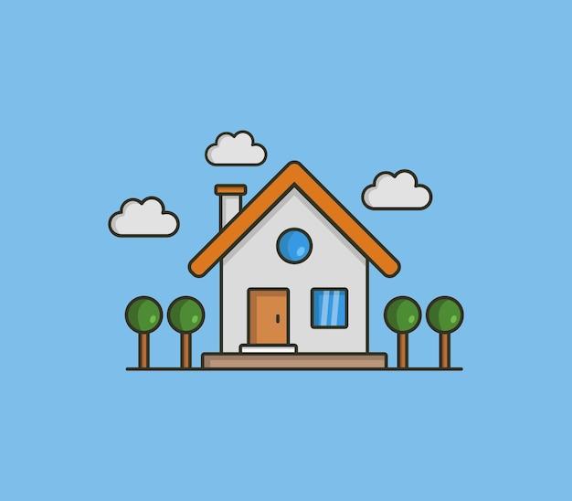 Ilustrowany dom