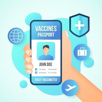 Ilustrowany paszport szczepień gradientowych