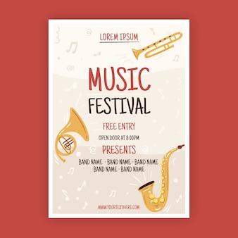 Ilustrowany plakat muzyczny w stylu