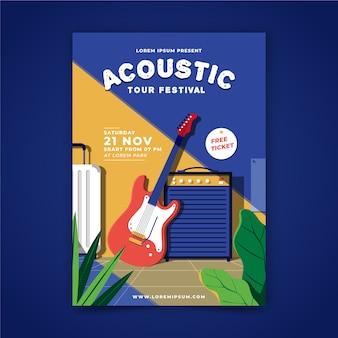 Ilustrowany plakat muzyczny