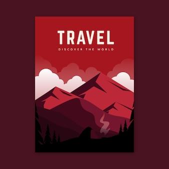 Ilustrowany plakat podróżny