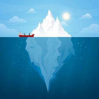 Ilustrowany projekt góry lodowej
