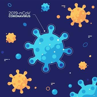Ilustrowany projekt koncepcyjny koronawirusa