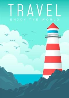 Ilustrowany projekt plakatu podróżnego