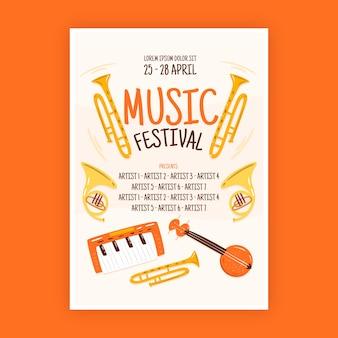 Ilustrowany styl plakatu muzycznego