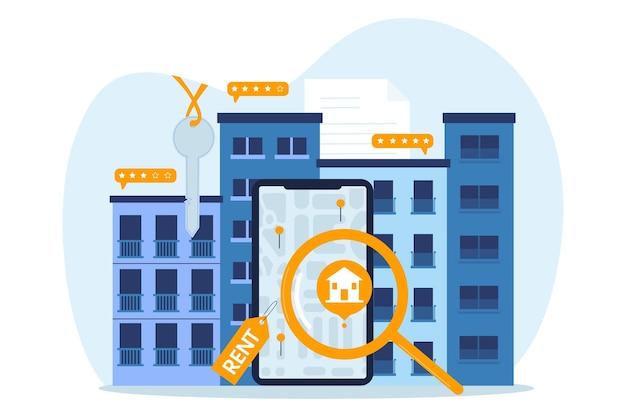 Ilustrowany styl wyszukiwania nieruchomości
