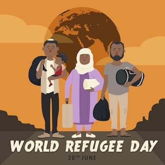 Ilustrowany światowy dzień uchodźcy