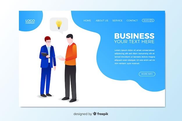 Ilustrowany szablon strony głównej firmy