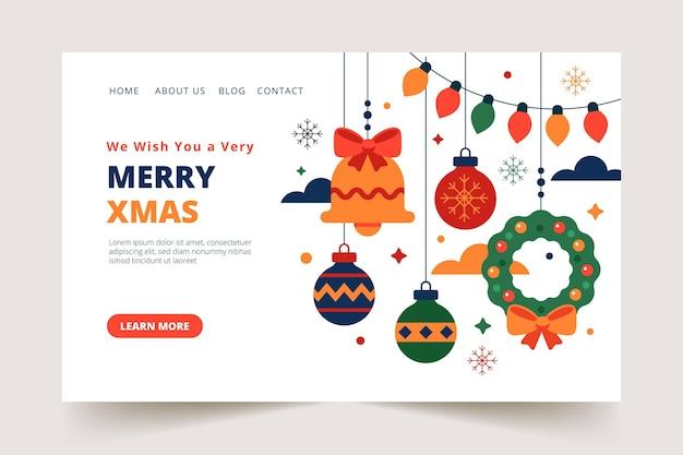 Ilustrowany szablon świątecznej strony docelowej