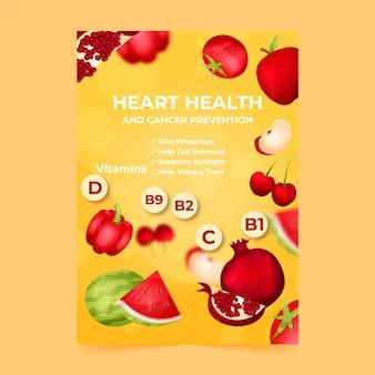 Ilustrowany szablon ulotki ze zdrową żywnością