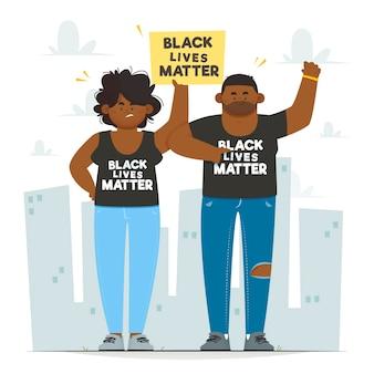 Ilustruje protest czarnych żyć