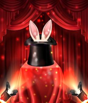 Iluzjonistyczny występ, magiczne sztuczki ze zwierzętami