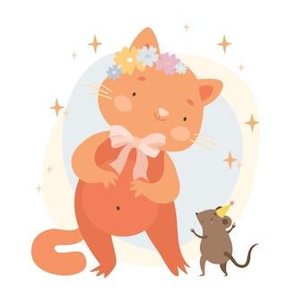 Imbirowy kot i mysz
