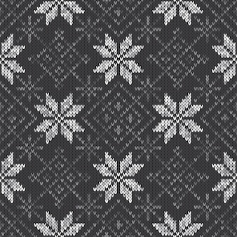 Imitacja wzoru swetra z dzianiny wełnianej