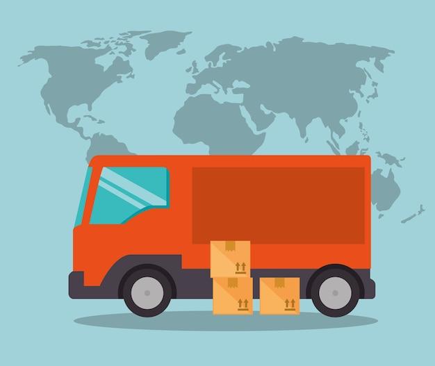 Importuj bezpłatną wysyłkę ciężarówką