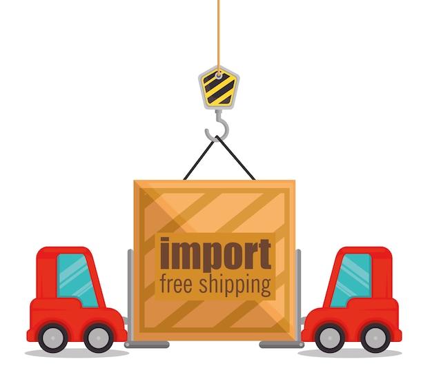 Importuj bezpłatną wysyłkę zestaw ikon