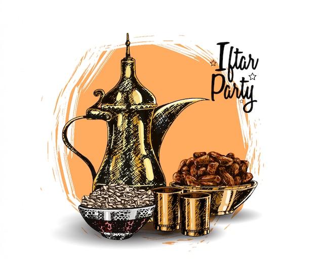 Impreza Iftar Premium Wektorów