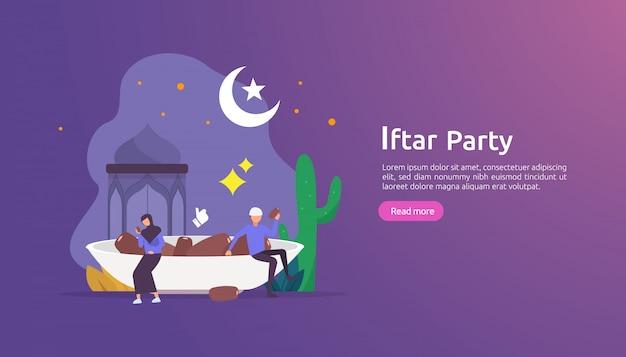Impreza uczta iftar gastronomia po poście