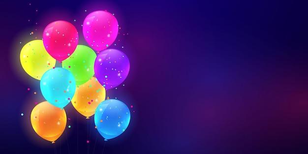 Imprezowe kolorowe balony i konfetti