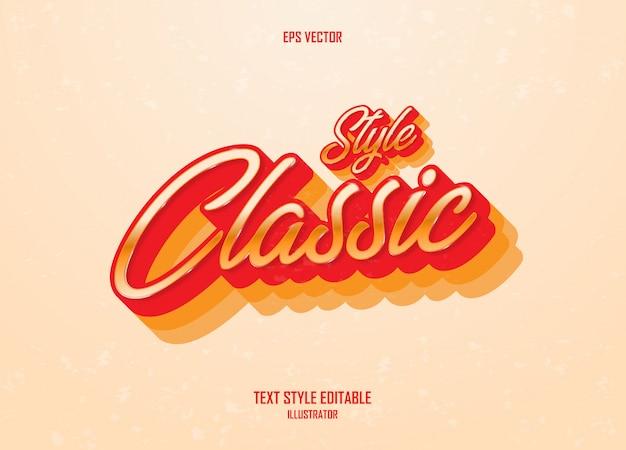 Increíble estilo de texto con concepto vintage
