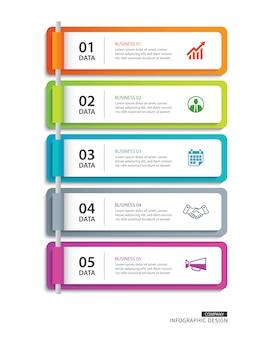 Indeks papieru z zakładkami infografiki